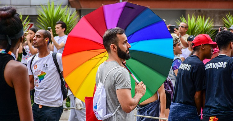 Manifestación LGTB en Sao Paulo, Brasil