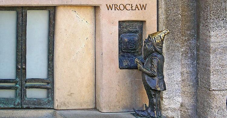 Uno de los duendes de Wroclaw