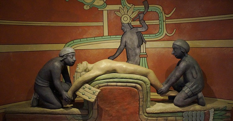 Representación de una cerimonia maya