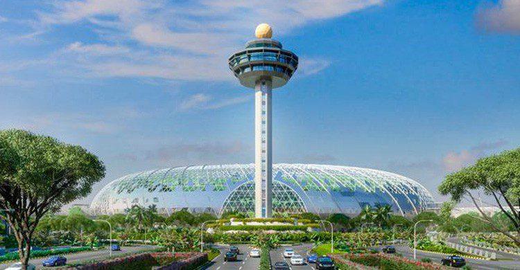 Boceto del futuro exterior del aeropuerto de Changi (Fuente: Aeropuerto JewelChangi)