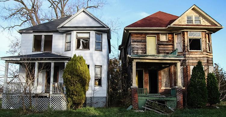 Casas abandonadas en Detroit