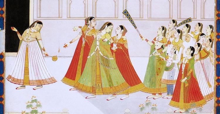 El harén del príncipe de Jaipur (Wikipedia)