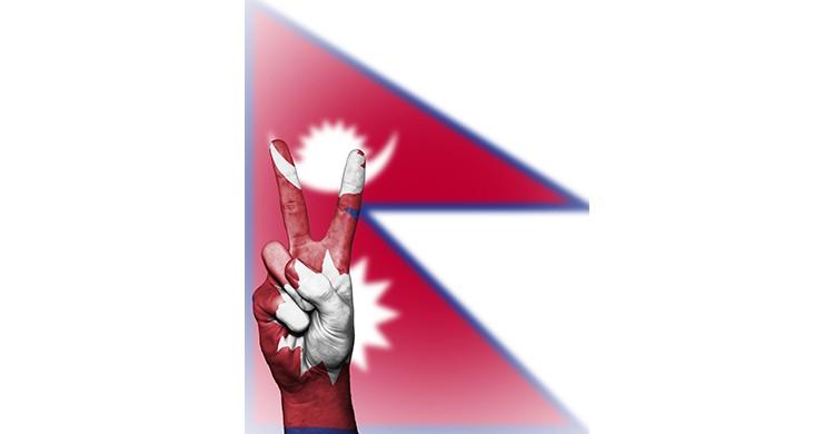 La bandera de Nepal