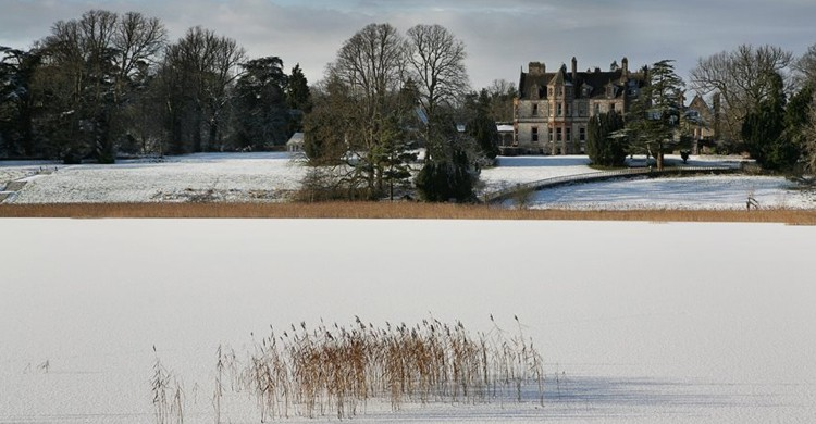 Vista desde la nieve (Castle Leslie Estate, Facebook)