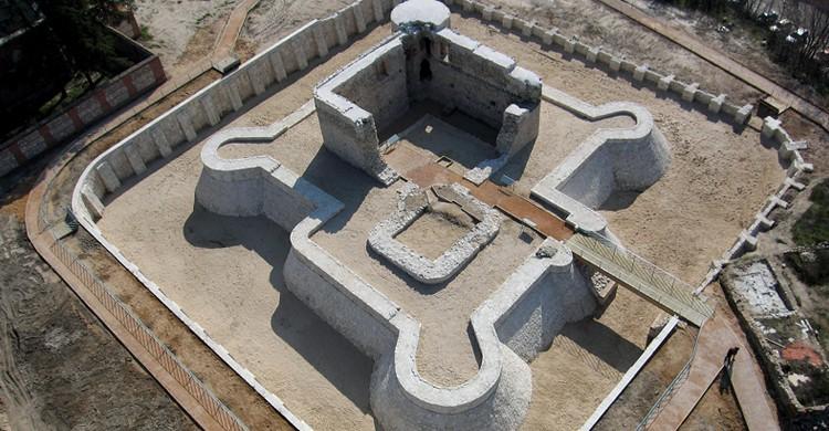 Vista aérea del Castillo de la Alameda (Web del Ayuntamiento de Madrid)