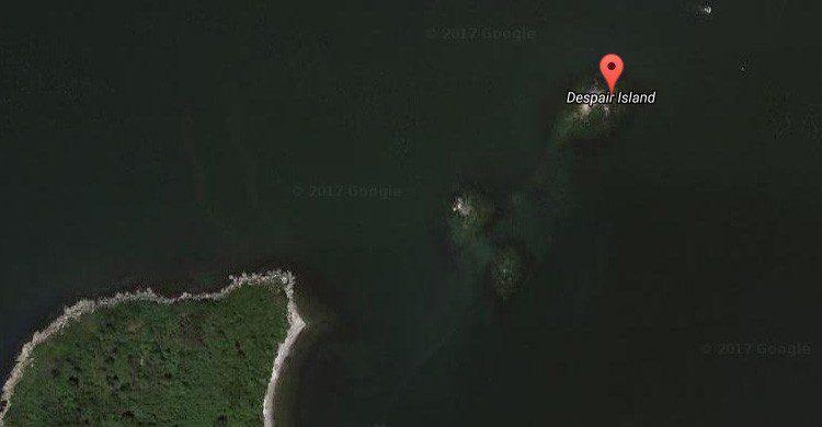 La 'Dispair Island' en la Antártida vista desde el satélite de Google Maps.