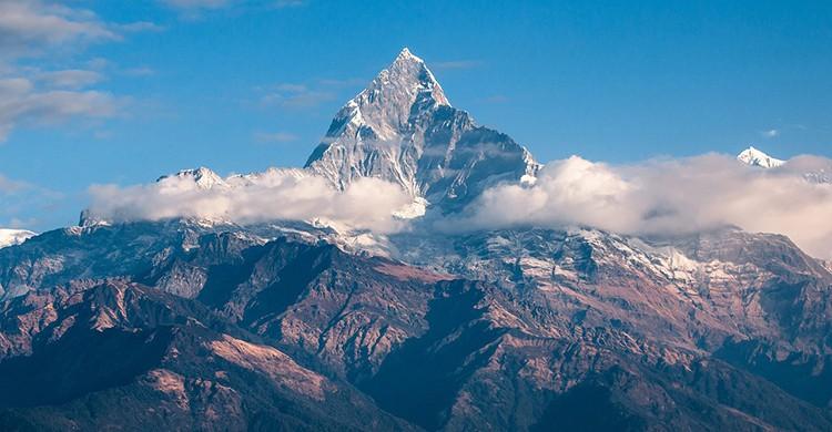 Vistas de las montañas de Nepal