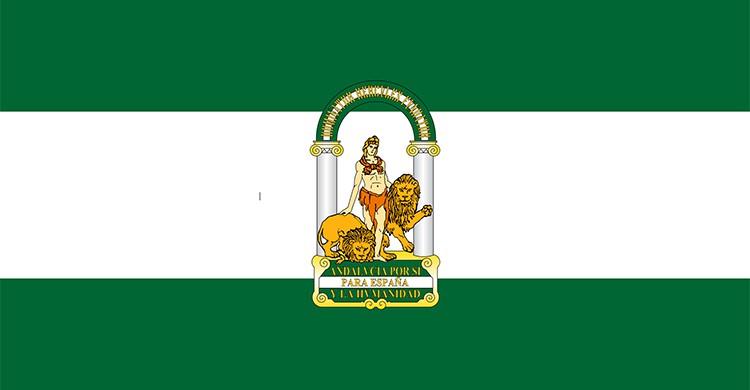 La bandera de Andalucía