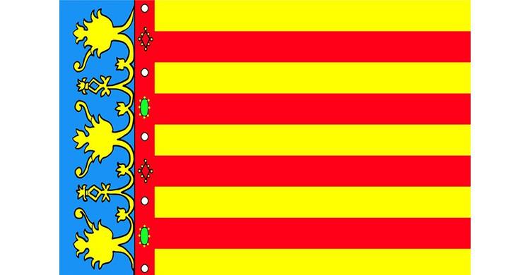 La bandera de la Comunidad Valenciana