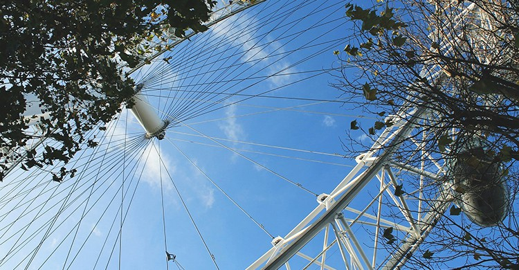 Detalle de la London Eye de Londres