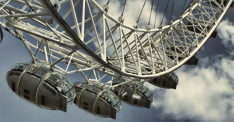 Vistas de las cabinas del London Eye