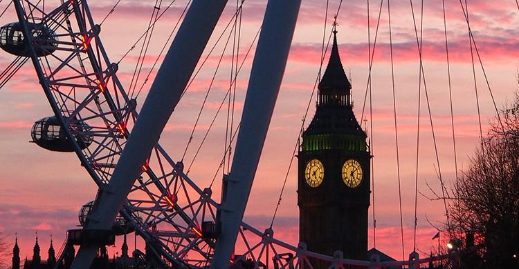 Puestas de sol en el Foto London Eye