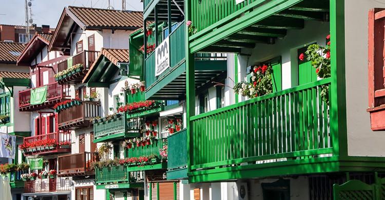 Típicas casas de Hondarribia