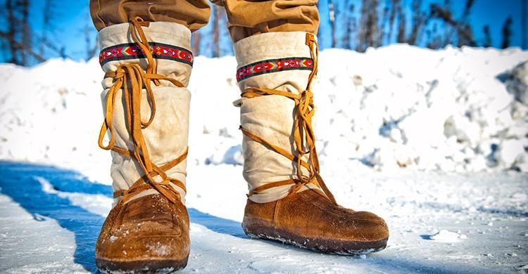 Botas de nieve tradicionales