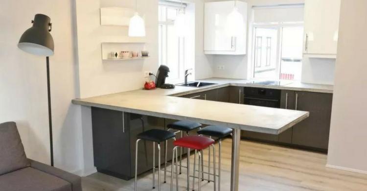 Habitación del apartamento en el que los ganadores se instalarán en Islandia (Wow Air)