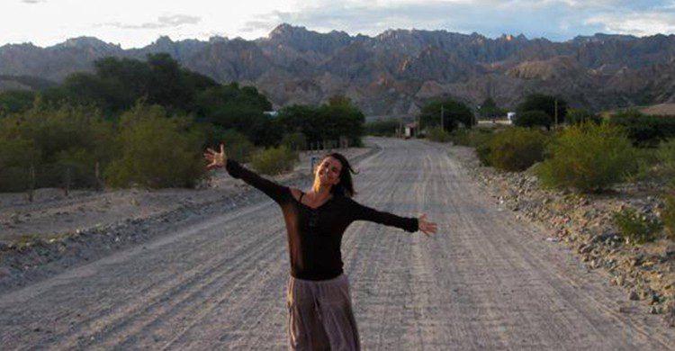 Julia del Olmo en Argentina (Julia del Olmo /caminosalvaje.org)