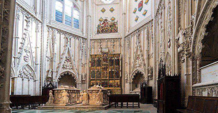 El sepulcro del cardenal Mendoza se considera una de las primeras muestras renacentistas en Castilla. (iStock)