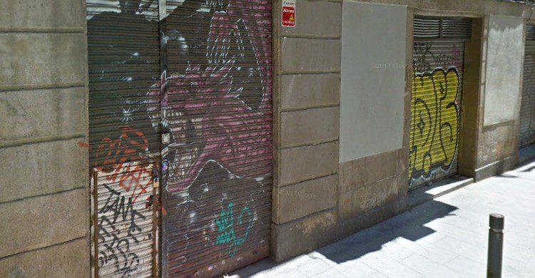 Bar clandestino El Armario en Barcelona (Fuente: Google Street View)