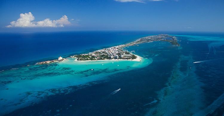 Isla Mujeres vista desde el aire (iStock)