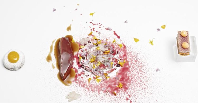 Un plato del restaurante DiverXo en Madrid (www.diverxo.com)