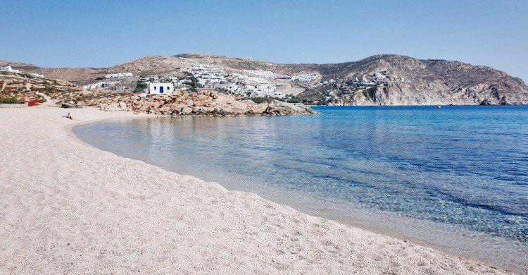 Playa de Agrari en Mykonos, Grecia (Fuente: iStock)