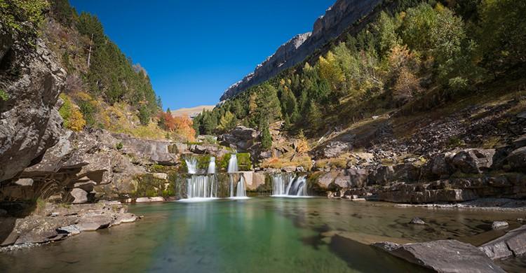 Cascadas en el Parque Nacional de Ordesa y Monte Perdido (iStock)