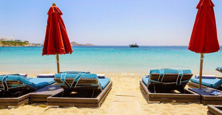 Playa de Paradise en Mykonos, Grecia (Fuente: iStock)