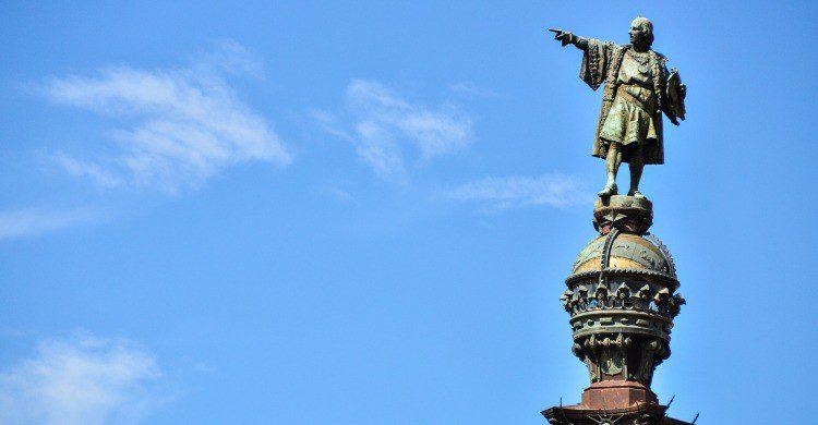 El monumento a Colón en Barcelona (Fuente: iStock)