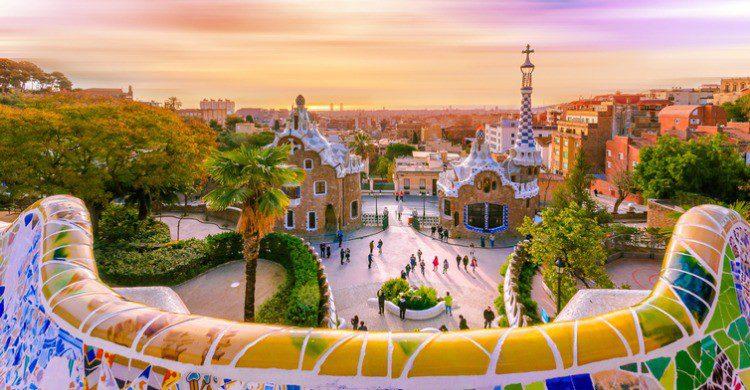 El Park Güell en Barcelona (Fuente: iStock)