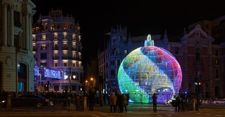 La gran bola de Metrópolis acaparó todas las miradas las pasadas navidades (iStock)