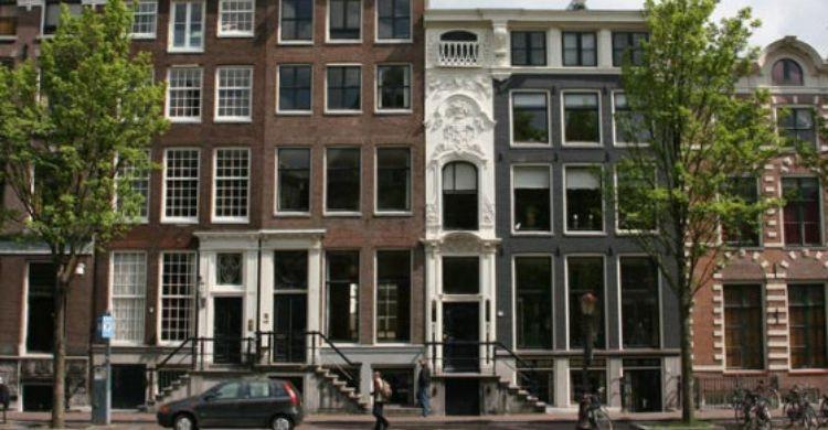Otra de las casas más estrechas de Amsterdam (Facebook)