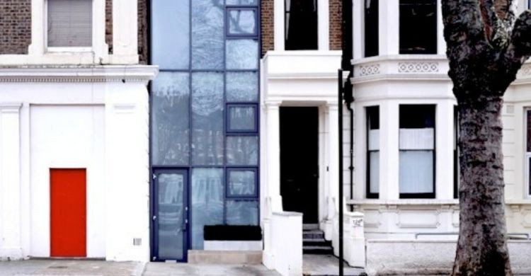 Curiosa casa en Londres (facebook)